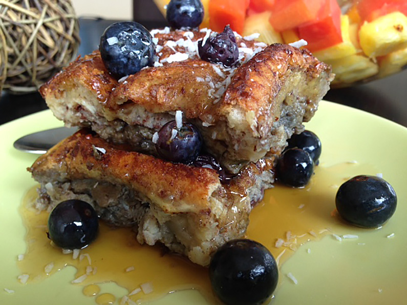 """Coco-Blueberry """"Sweetheart"""" Egg Bake – Inspiration from my Mom"""